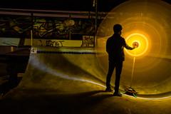 Tool Test! (~138~) Tags: longexposure light canada lightpainting abstract colour colors night dark fun lights colours bc awesome curves funky skatepark paintingwithlight trippy streaks underthebridge lightart lightpaint 6mile