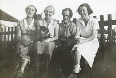 At Petts Wood, 1937 (lindamaryfowler) Tags: binkie 1937 pettswood grandmastokes audreysheppard granniefowler auntieray