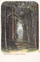 Ansichtkaart durchblick v.d. hohen sonne (dickjan thuis) Tags: postcard sonne postkarte durchblick ansichtkaart hohen cartepostaleancienne