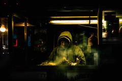 fixer (TommyOshima) Tags: street leica nyc usa newyork manhattan 28mm sausage timessquare midnight 4am f28 foodstand m9 elmarit leicam9p