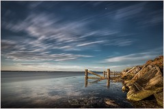 Remnants (Chas56) Tags: longexposure sunset sky seascape water bulb clouds canon landscape pier seaside dusk decay australia wideangle victoria australianlandscape remnants waterways geelong remaining youyangs ndfilter coriobay pointhenry 1635mmlens 92seconds canon5dmkiii
