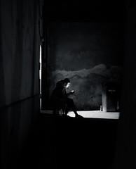 On a Break | Day 192 / 365 (marcin baran) Tags: street city light people urban blackandwhite bw woman white black building girl monochrome mobile mystery night dark evening town blackwhite mood sitting break fuji darkness pov candid awesome streetphotography poland polska human sit mysterious fujifilm 365 factor enlightened gliwice candidphotography x100 enlight 365project ligtt marcinbaran x100t