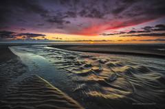 Carnoustie sunrise (ben.leng) Tags: sea sky sun water clouds sunrise scotland sand nikon waves fife angus sigma burn shore northsea barry ripples 1020mm carnoustie ndgrad barrybuddon