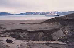 1998_01_08_16 (petermit2) Tags: ice volcano boat ship antarctica caldera cruiseship ash antarctic marcopolo volcanicash deceptionisland activevolcano antarcticpeninsula pendulumcove