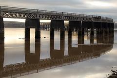 Tay Rail Reflection (jonathan.scaife81) Tags: bridge reflection water canon river scotland dundee outdoor rail tay tamron 6d 28300
