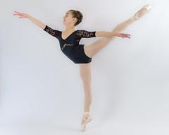 Ballet (greg.rusk) Tags: ballet white black girl shoes tights grace elegant graceful leotard elegance