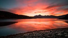 Lago di Campotosto, waiting for the sun (jimmomo) Tags: sky lake mountains sunrise dawn italia montagna abruzzo campotosto laghi