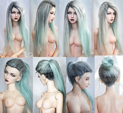 Alpaca suri wig available for order (SophyMolly) Tags: blue alpaca switch doll sale wig custom soom vivien suri undercut elfdoll customdoll