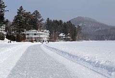 (Jean Arf) Tags: winter lake snow ice frozen mirrorlake iceskating skating february adirondack adk lakeplacid 2015 mirrorlakeinn