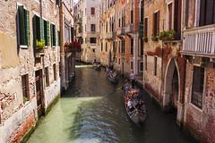 Gondola Triplets (...Iwonttell) Tags: travel venice italy italia streetphotography wanderlust explore venezia gondolas