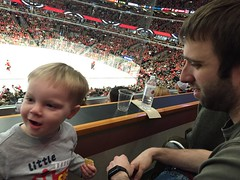 """Paul with Matt Dominski at the Blackhawks Game • <a style=""""font-size:0.8em;"""" href=""""http://www.flickr.com/photos/109120354@N07/24731474901/"""" target=""""_blank"""">View on Flickr</a>"""