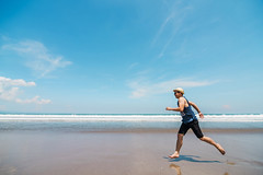 Run from life ;D (RnD.de.Portraits) Tags: bali beach indonesia kudeta liveauthentic