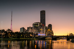 Summer Nights In Melbourne (Leanne Cole) Tags: sunset summer landscape evening cityscape photographer photos australia melbourne images victoria environment summerevening fineartphotography hotday yarrariver landscapephotography landscapephotographer environmentalphotography eurekaskydeck fineartphotographer environmentalphotographer leannecole leannecolephotography statetheatrespire