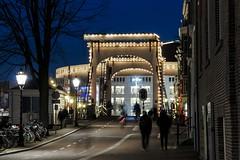 Amsterdam: Blue Hour. (parnas) Tags: bridge amsterdam cityhall availablelight streetphotography nighttime bluehour avond amstel straat stopera nieuweherengracht blauweuur nationaloperatheatre