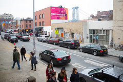 Spotify (Colossal Media) Tags: nyc pink orange brooklyn colorful outdoor williamsburg ooh colossal williamsburgbridge outdooradvertising spotify colossalmedia onlineservice yearinmusic b146 alwayshandpaint kristamlindahl spotifycomplete spotifyfinal
