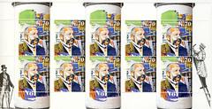 Ernst Litfa - inventor of the advertising pillar (postcardlady1) Tags: stamps briefmarken