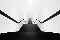down (O l l i . B .) Tags: white black architecture stairs blackwhite arquitectura fineart treppe architektur sw schwarz weis schwarzweis