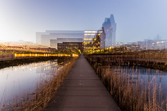 Euratechnologie  Lille (lecointelaetitia) Tags: city longexposure night lights nikon sigma lille nuit nordpasdecalais ville nord lumires zooming expositionlongue sigma1020 euratechnologie
