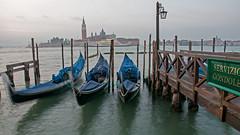 Gondolas in Venice (San Giorgio Maggiore in the background)