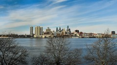 Back for more! The City of Brotherly Love. (SaltyDogPhoto) Tags: city travel blue trees sky usa philadelphia water beautiful skyline clouds skyscraper river landscape photography nikon cityscape pennsylvania camden nj bluesky pa philly nikkor delawareriver layering photooftheday adventureaquarium nikonphotography nikkorafs1855 nikond7200 saltydogphoto