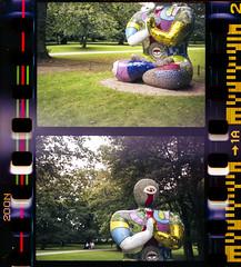 Niki de Saint Phalle - Buddha (Dell's Pics) Tags: park sculpture green film grass saint pen de open buddha air yorkshire olympus 200 vista agfa niki phalle poundland ee2