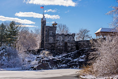 Belvedere Castle (/ys) Tags: nyc snow newyork sunshine 50mm nikon centralpark blizzard turtlepond belvederecastle d610 starsandstripescastlesturtle