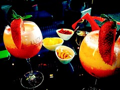 """""""Cocktail in Dolce&Gabbana Bar"""". (Milano). (giannipaoloziliani) Tags: city red italy colors yellow fruit bar night relax glasses pub strawberry cherries soft downtown italia phone top milano centre serata mint saturday atmosphere fresh company giallo pineapple cube olives apricot metropolis chilli cocktails ananas rosso frutta pesca luxury potatochips atmosfera exclusive notte dg aperitivo citt nonalcoholic fragola elegance peperoncino iphone bicchieri ciliegie menta lusso sabato blackglass blacktable darklights cristals beforedinner metropoli martinibar dolceegabbana blackcube citynightlife analcolico softlights esclusivo milancity iphonephoto luckis sweetevening softsong luxuo"""
