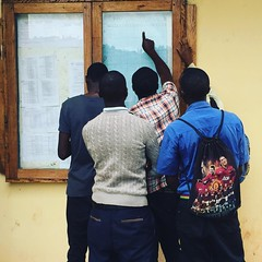 New students prepare for classes at AICM #College of #Science & #Technology. We've been creating #entrepreneurs and #job creators for more than 30 years. Build  your future at aicm-vtc.org #education #ICT #vocational #training #Kabale #Uganda #Africa