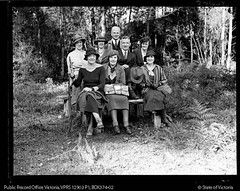 VARIOUS VIEWS OF PEOPLE ON A HIKE IN THE BUSH (Public Record Office Victoria) Tags: fashion bush victoria hike recreation regional