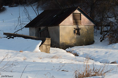 It Keeps Repeating (jesspetro) Tags: door winter sunset house snow game cold abandoned broken window nature field barn contrast canon walking shadows hiking january preserve wandern lehighvalley corrugated wander gamepreserve redroof trexler trexlergamepreserve lehighcounty petrohoy