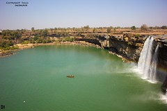 Chitrakote Falls (Kanishka****) Tags: india water beautiful canon landscape boat fishing ride outdoor falls waterfalls serene greenwater kanishka jagdalpur