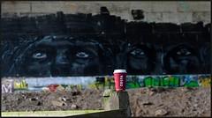One drink between two ! (peterdouglas1) Tags: costa graffiti wallart britanniabridge