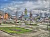 Plaza inclinada e Iglesia de Chonchi (Fotografía transición) Tags: chonchi hdr gratis chiloé chiloe chile plaza inclinada iglesia