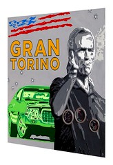 GRAN TORINO (jice.chauvin23) Tags: ford film peinture popart artcontemporain clinteastwood pochoir grantorino galeriedart