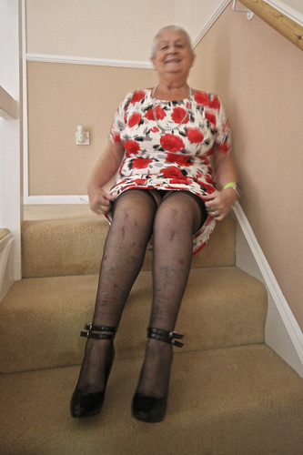 Frocks on the stairs 73-5.