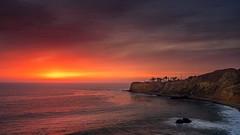 Palos Verdes sunset, California coast (Trent9701) Tags: ocean california birthday light sunset vacation lighthouse water landscape coast losangeles pacificocean coastline southerncalifornia seashore pacificcoast goldenhour palosverdes trentcooper terranearesortandspa