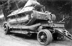 Abandoned French tank FCM 36, because of ticketnest, these, like other French light tanks, long-distance transported on trucks or mounted on heavy trailers