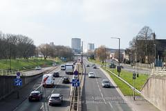 View of motorway in Bristol M32 (Jacek Wojnarowski Photography) Tags: auto road street city uk travel england urban car horizontal architecture bristol spring europe motorway outdoor transport transportation expressway superhighway 6x4