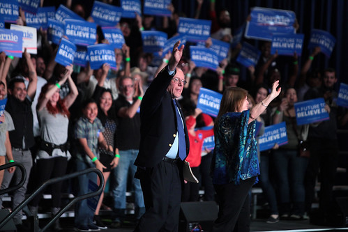 Bernie & Jane Sanders with supporters, From FlickrPhotos