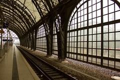 Dresden (Bob Bain1) Tags: travel station canon buildings germany europe saxony platform trains railways