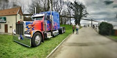 Optimus Prime at the Humber Bridge. (al.images) Tags: transformers optimus humberbridge optimusprime countryparkinn humberunleashed