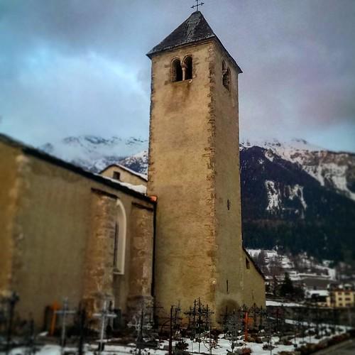 Marienkirche: winterliche Abendstimmung.