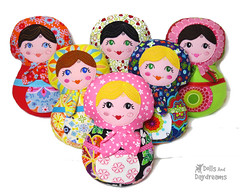Babushka Matryoshka Doll Embroidery Pattern (Dolls And Daydreams) Tags: babushka matryoshka sewingpattern russiannestingdoll machineembroiderypattern ithpattern
