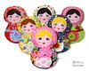 Babushka Matryoshka Doll Embroidery Pattern (Dolls And Daydreams) Tags: babushka matryoshka sewingpattern russiannestingdoll machineembroiderypattern ithpattern