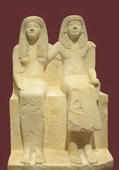 Statue of Pendua and his wife Nefertari, New Kingdom, 19th Dynasty, 1292-1190 BC /       ,  , I , 1292 - 1190 . . . (SanctusBulgaria) Tags: egyptianart egyptiansculpture egyptianfamily