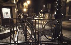 Night street (szesory) Tags: street night vintage byke