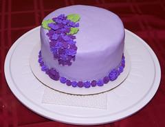 Kelly Cake (k9cfa) Tags: flowers cake purple decorating kelly wilton