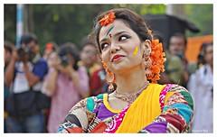 Basanta Utsav 2016#7 (Anindya Roy Photography (catching up)) Tags: portrait woman india art festival canon dance emotion expression culture hindu holi kolkata westbengal dolyatra basantautsav