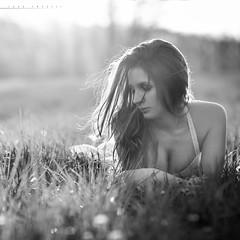 Valentina (lucafoscili) Tags: light sunset portrait italy woman nature girl beautiful beauty face grass fashion hair outdoors spring model nikon bokeh naturallight backlit emiliaromagna rimlight bardi
