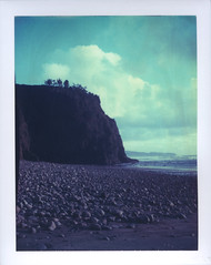 My favorite daydream. (feedmyhungryeye) Tags: ocean oregon polaroid day1 expired 669 packfilm type100 polaroidweek